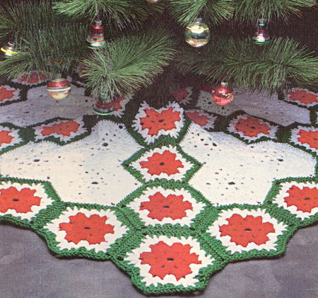 Crochet Christmas Tree Skirt Patterns