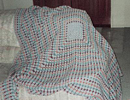 Big Granny Square Crochet Afghan Pattern