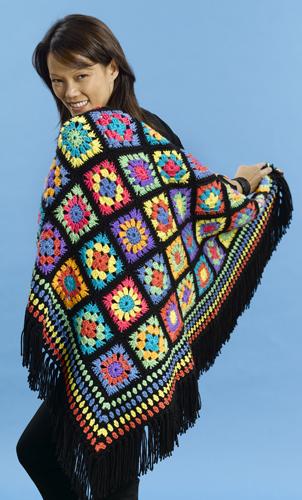 vintage crochet afghans granny square - Laurel Leaf Farm, antiques