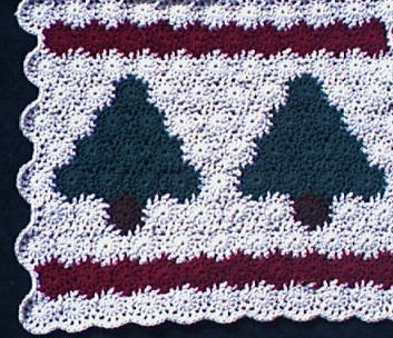 First Blues Christmas Tree Skirt Free Crochet Pattern