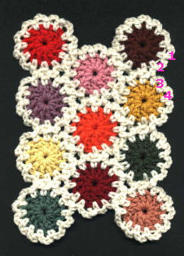 Free Crochet Pattern For Yo Yos : Christmas Afghan and Tree Skirt Yo-Yo Crochet Afghan Pattern