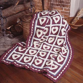 Bev's Heart-Squares to Crochet