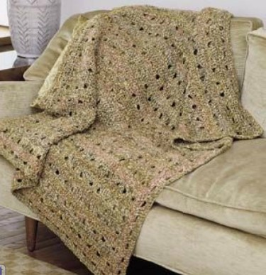 Crochet Patterns Easy Blankets : Easy Openwork Crochet Afghan Pattern
