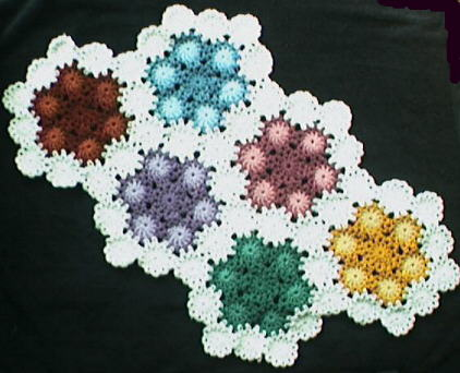 Crochet Yoyo Patterns : Flower Power Yo-Yo Crochet Afghan Pattern