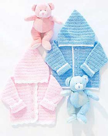 ???????????: Crocheted Baby Hoodie Pattern