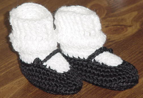 How To Crochet Baby Booties Free Patterns : Image Mary Jane Baby Booties Crochet Pattern Free Download