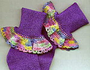 Crocheted Baby Socks Pattern - Sue's Crochet and Knitting