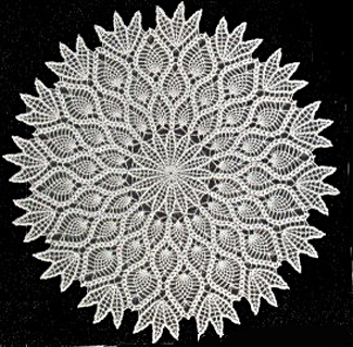 Crochet Art: Crochet Pineapple Lace Doily Pattern