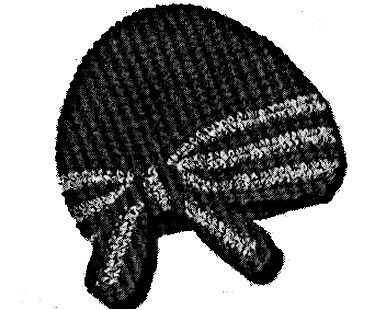 Crochet Hat Pattern With Bow : Crocheted Cap and Bow Hat Pattern