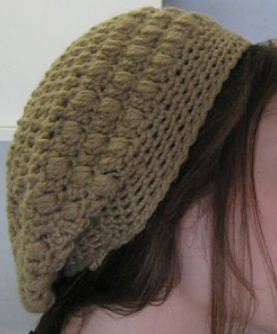 Slouch Hat Crochet Crocheted puffy slouchy hat