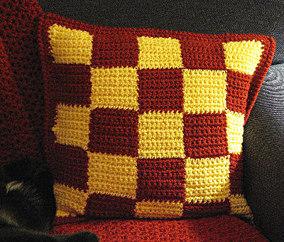 Crocheted Checkerboard Pillow Pattern