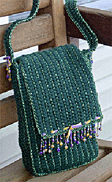 Crochet Bag Making : Crocheted Beaded Fringe Handbag Pattern