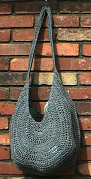 Crochet Sling Bag Pattern : Crocheted Summer Sling Purse Pattern
