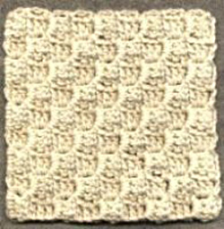 Diagonal Block Stitch Square Pattern