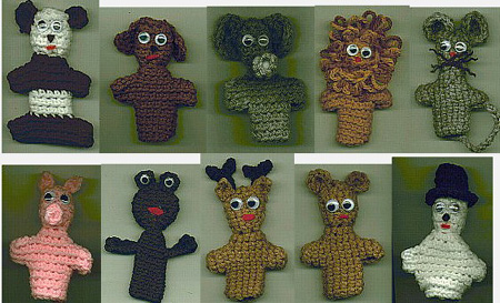 Spring Finger Puppets - Crochet Uncut Fall 2011 issue of Crochet Uncut