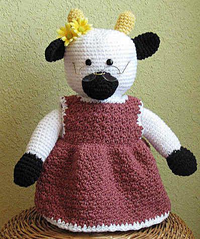 Granny Cow Crochet Pattern