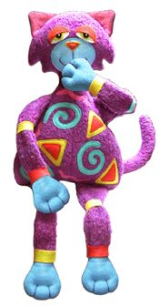 Free Knitting Pattern: Any-Yarn Toy Cat - Knitting-and.com