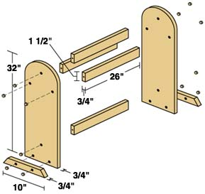 quilt rack woodworking plans